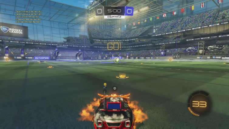 FalloutOverseer playing Rocket League